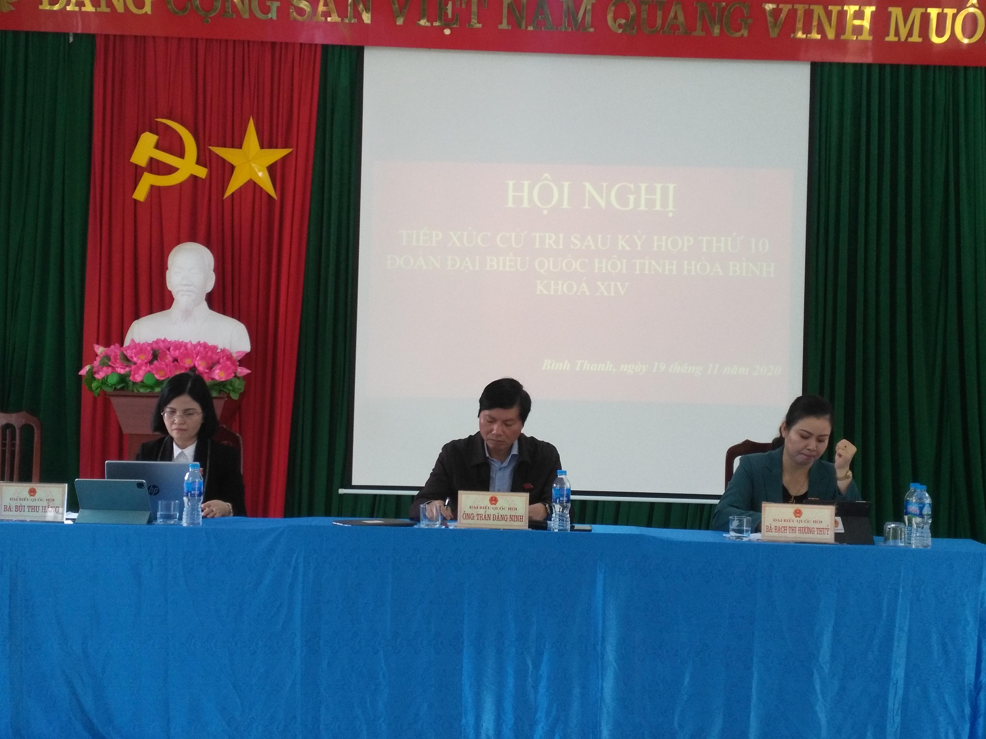 Đại biểu Quốc hội tỉnh tiếp xúc cử tri huyện Cao Phong
