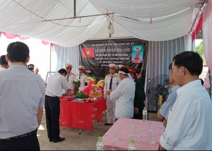 Xã Thạch Yên tổ chức lễ đón nhận và an táng hài cốt liệt sỹ